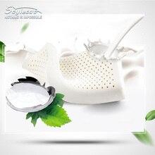 Estilo de Onda Gato agujero almohada Ortopédica Tailandia Las Importaciones de Látex Natural Almohada Cervical Cuidado de La Salud Almohada De Látex Natural