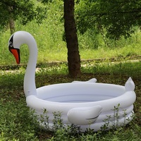 Inflatable Flamingo Swan Baby Swimming Pool Portable Outdoor Children Basin Bathtub kids pool baby swimming pool Accessories