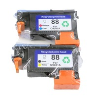 2 PACK 88 Printhead Replacement For 88 Print Head C9381A C9382A For Office Jet Pro K5400
