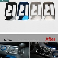 1 Pcs DIY Car Style New Stainless Steel Four Color The Stall Panel Cover Case For