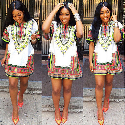 Fashion-Women-Traditional-African-Print-font-b-Dashiki-b-font-font-b-Dress-b-font-Short Women Dashiki Outfits - 20 Cute Ideas On How To Wear Dashiki