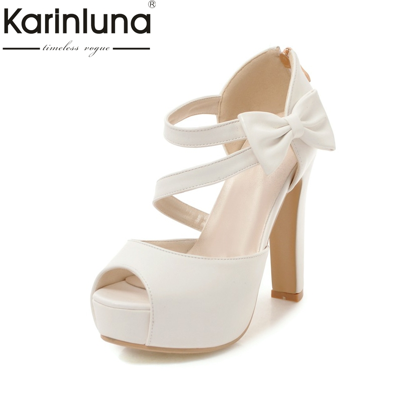 Karinluna new large size 31-43 Princess style summer shoes sandals women fashion high heels platform party wedding sandal woman free shipping 10pcs lf412cn dip8 in stock