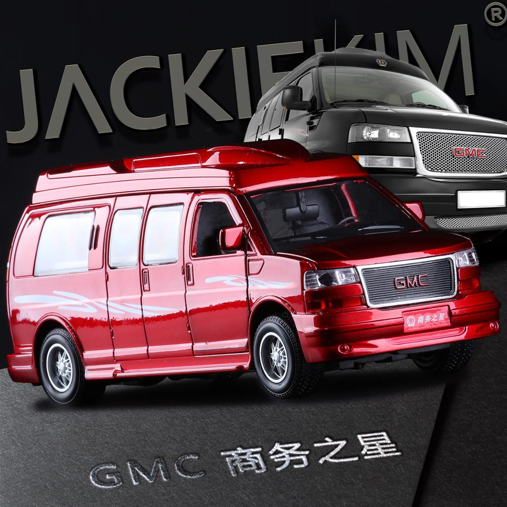 High quality high simulation 1 32 alloy pull back car Cadillac GMC General Business Star MPV