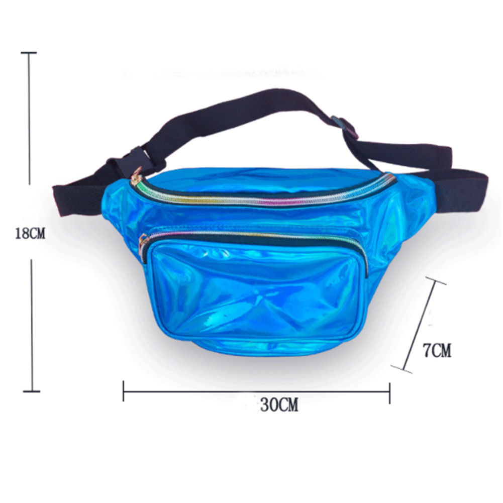 8 Colors New Holographic Waist Bag For Women Laser Fanny Pack Belt Bag Bum Bag Unisex Banana Bags