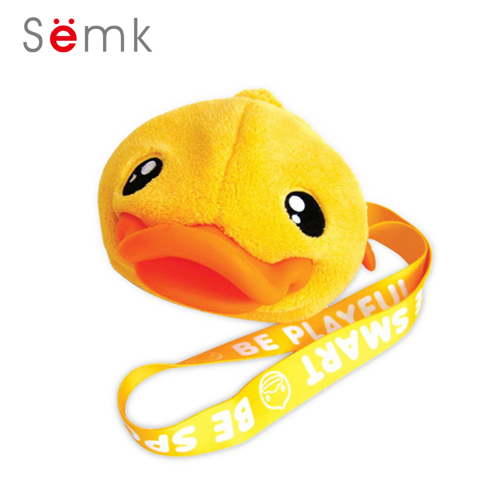 цена на Semk Fashion Small Bags For Girls 3D Yellow Duck Mouth Plush Toy Duck Toy Kid Bags Crossbody Girl Bag Cute Children Bag