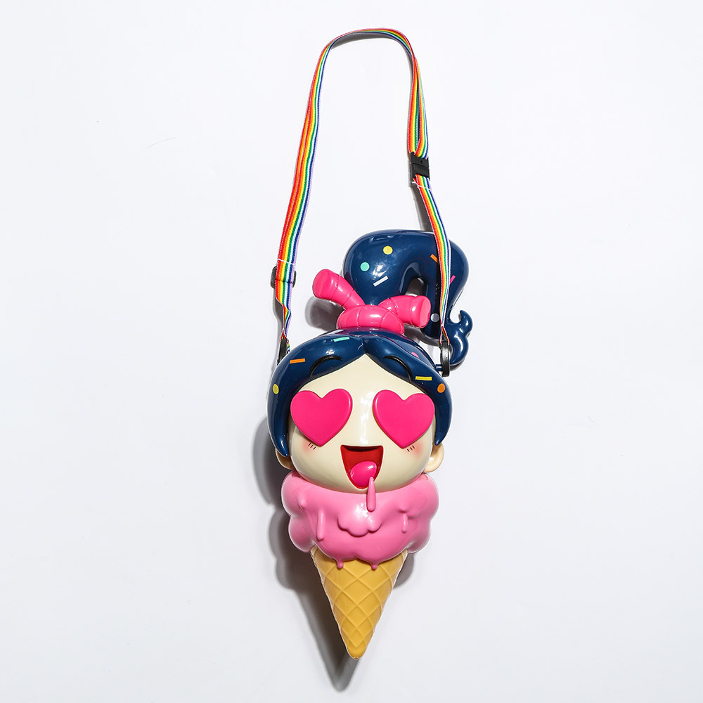 Wreck-It Ralph cartoon movie Ralph Breaks the Internet Vanellope von Schweetz toy Ice cream shaped popcorn bucket message bage