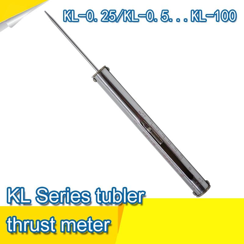 KL-0.25 Analog Push Pull Force Gauge Tension Meter Celular High Quality Dynamometer Traction Measurement 100n dial mechanical push pull gauge