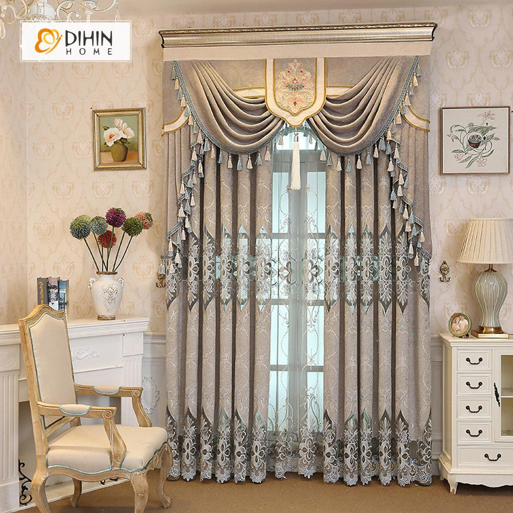 High Window Curtains: NEW Embroidered Valance High Quality Curtains Window