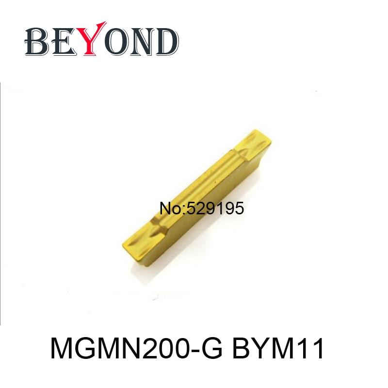 BEYOND 10db MGMN 200 MGMN200-G BYM11 Belső barázdáló keményfém betétek Eszterga eszterga esztergaszerszámok Szerszámgépek CNC utensili tornio