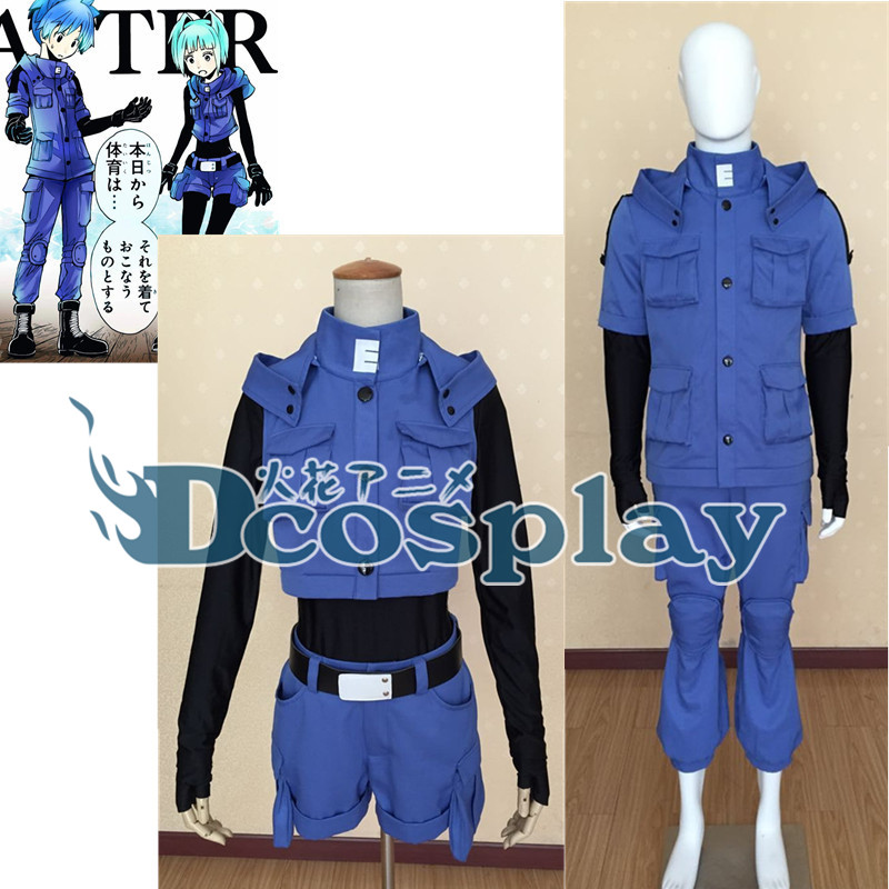 Assassination Classroom Shiota Nagisa Kayano Kaede cosplay costume unisex