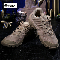 Outdoor Desert US Tactical Sneakers 1200D Nylon Chamoi Leather Men Sport Hiking Walking Camping Shoes Boots