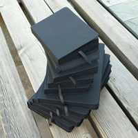 Alle Schwarz Papier Leere Innere Seite Tragbare Kleine Tasche Notebook Sketch Schreibwaren Geschenk Hardcover Notizbuch A5 A6 GRÖßE
