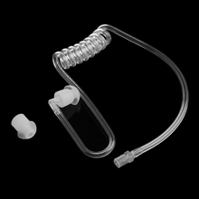 Earphone Accessories Transparent Coil Acoustic Air Tube Earplug For Two-Way Radio Walkie Talkie Earpiece Headset