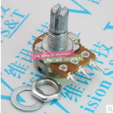 50 шт Высокое качество WH148 B50K линейный потенциометр 15 мм вал с гайками и шайбами Лидер продаж