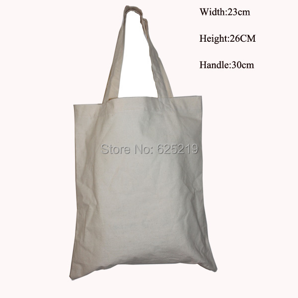 150g/m2 100% cotton (5pcs/lot) 25*30cm/10*11.8inch environmental cotton shopping bag organic natural tote bag hand length handle ...