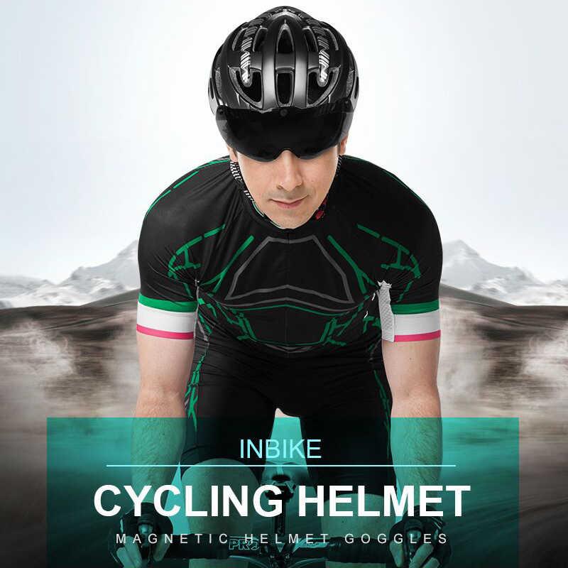 90a227a945 ... INBIKE Cycling Helmet Ultralight Bike Helmet Men Mountain Road Women MTB  Windproof Glasses Bicycle Helmet Casco