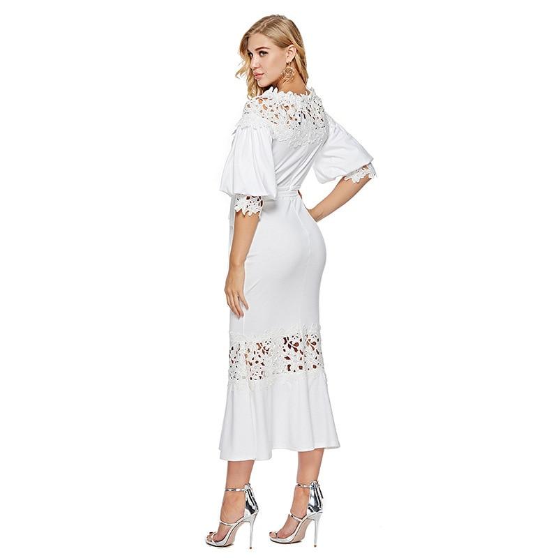 MUXU fashion white dress sexy sukienka summer dresses elegant robe femme patchwork long dress roupas kleider woman clothes in Dresses from Women 39 s Clothing