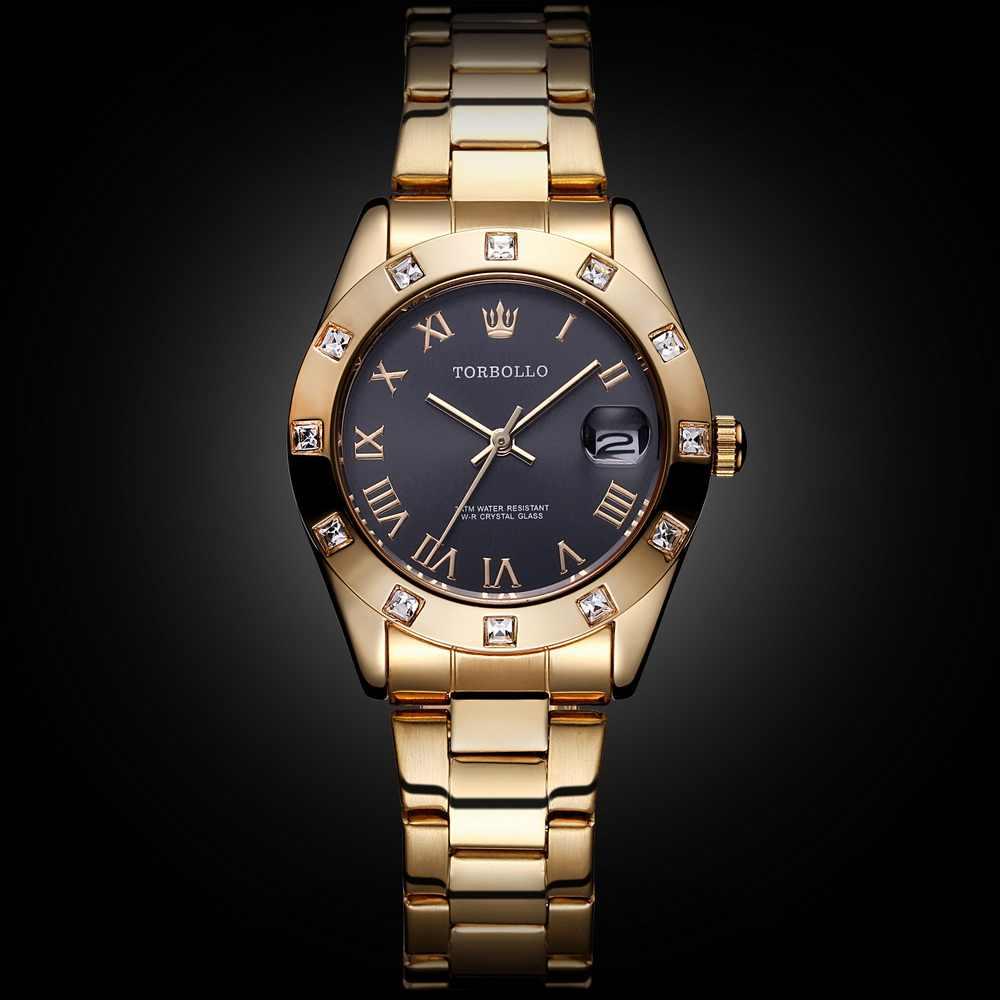 2018 שעונים של האופנה הנשים ניו זהב נירוסטה נשי שעון קוורץ עמיד למים שעון גבירותיי שורש כף יד שעונים Relogio Feminino