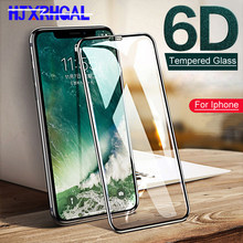 6D Protective Glass For iPhone 6 6S 7 8 X glass On Tempered Glass For iPhone 6 6S 7 8 Plus Screen Protector Film(China)