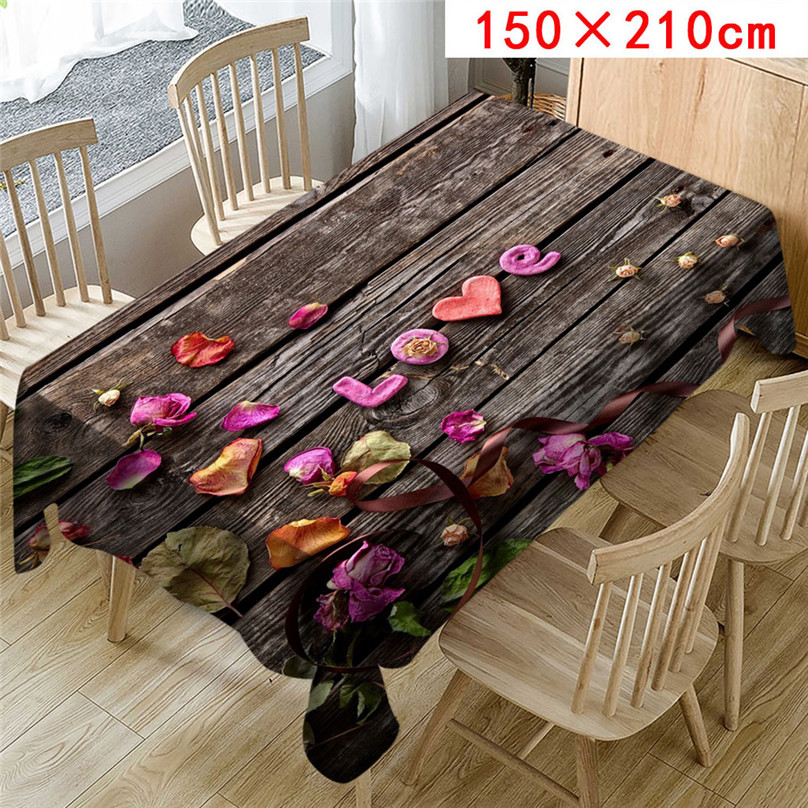 Wedding Valentine`s Day romantic 3D tablecloth table cloth Dinner for Family Party Home Decortion 2019 NEW table cloth #5J07 (5)