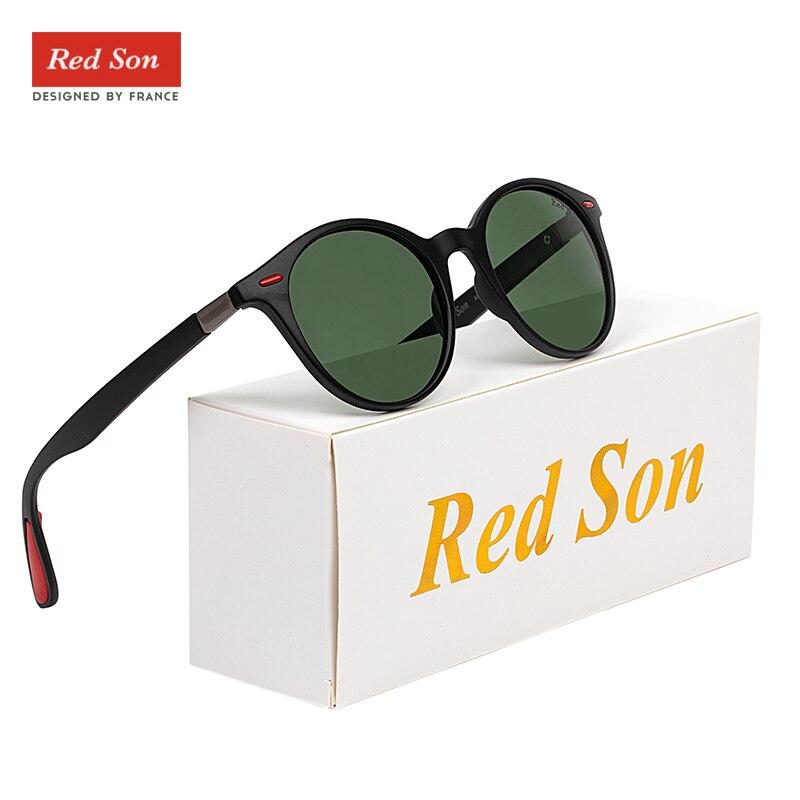 Image 3 - Red Son 2019 Fashion Ultralight Design Polarized Sunglasses Men Women Oval Frame TR90 Legs Round Sun Glasses Driving goggles-in Men's Sunglasses from Apparel Accessories