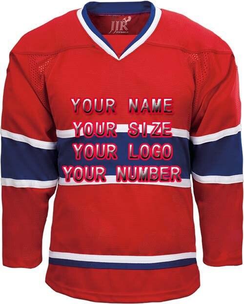 eff9d6dc6 New Factory Custom Free Design Logo Wholesale ICE Hockey Jerseys Replica  Home Mens Vintage Jersey Red