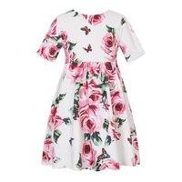 Flower Girls Dress Summer 2018 Brand Teen Clothes Kids Dresses For Girls Costume Vestidos Children Party