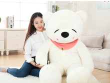 big plush squinting white teddy bear toy huge bear doll gift about 160cm