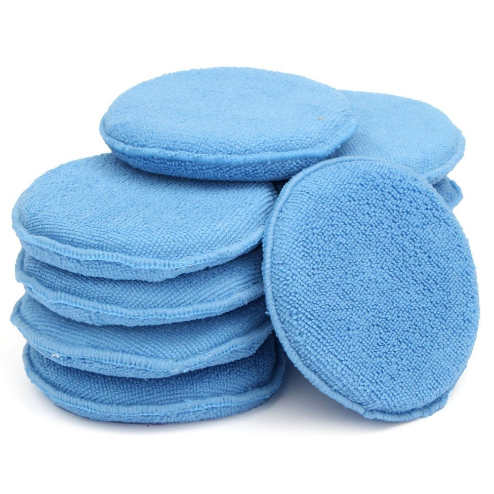 New 10pcs Car Clean Cleaning Drying Towel Microfiber Wax Applicator Pads with Hand for Pocket