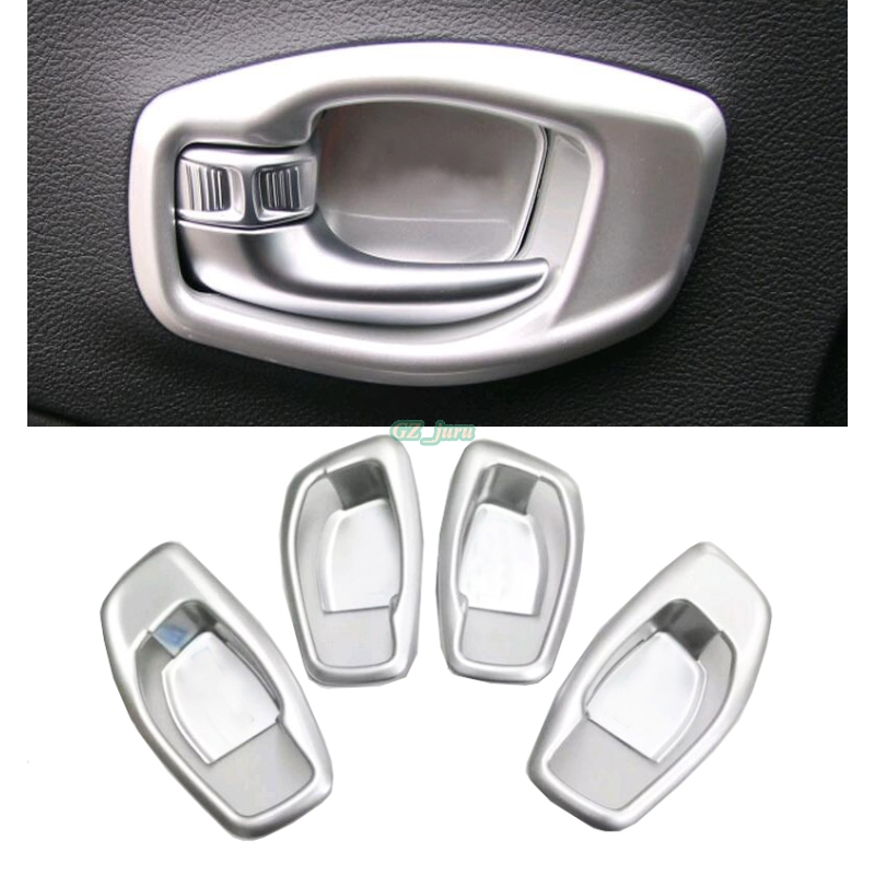 ABS  Interior Inner Car Door Handle Bowl Frame for Jeep Compass 2017 2018