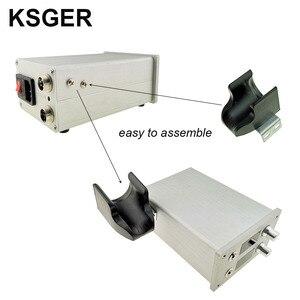Image 5 - KSGER 2 In 1 T12 STM32 OLED 납땜 스테이션 핫 에어 건 SMD 건조기 디지털 재 작업 디 솔더링 수리 도구 알루미늄 합금 핸들