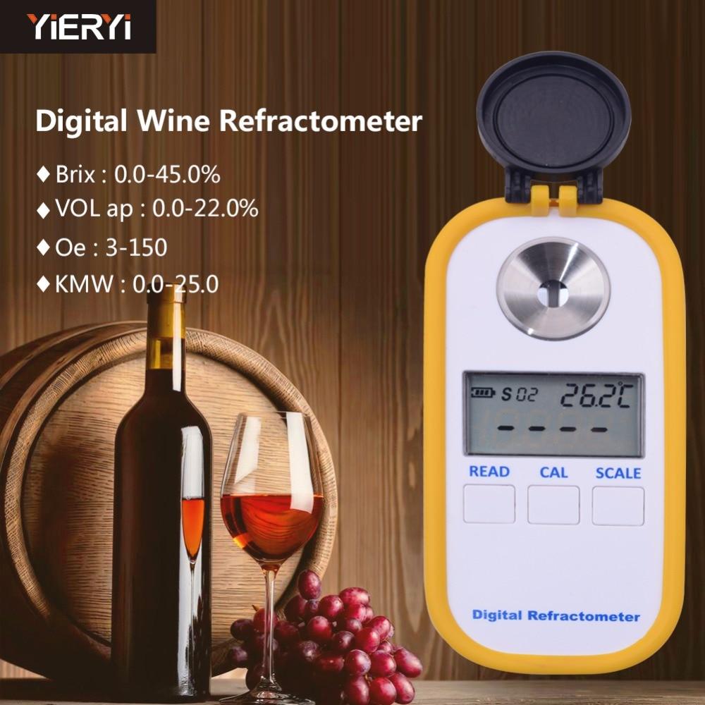 DR40 0 45 Brix Wine Refractometer Refractive Index Handheld Digital Display Wine Juice Special Measurement Tooljavascript