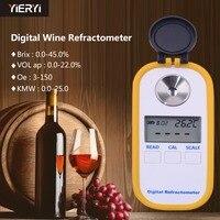 DR40 0 45% рефрактометр для вина по шкале Брикса Индекс преломления Ручной цифровой дисплей винный сок специальное измерение инструменты JavaScript