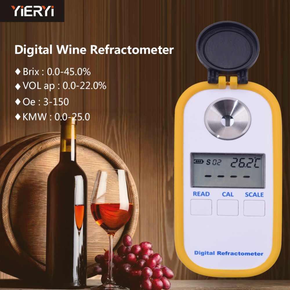 DR40 0-45% بريكس النبيذ الانكسار مؤشر الانكسار المحمولة شاشة ديجيتال النبيذ عصير قياس خاص Tooljavascript