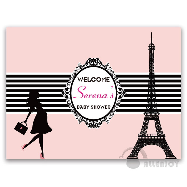 online shop birthday backdrops baby shower eiffel tower background