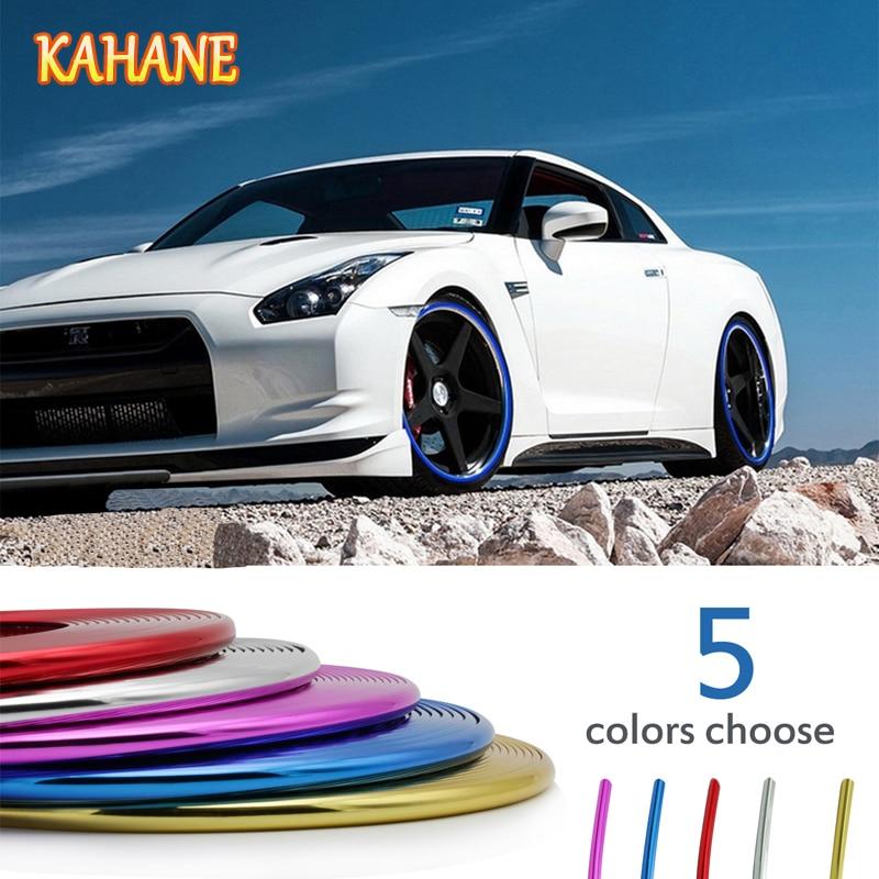 KAHANE Car Styling 8M Wheel Hub Tire Sticker Car Wheel/Rim/Tire Decorative Strip Cover For Toyota CHR Yaris Corolla Honda Accord