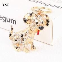Dog Creative Lovely Cute Crystal Charm Purse Handbag Car Key Keyring Keychain Party Wedding Birthday Gift High Quality