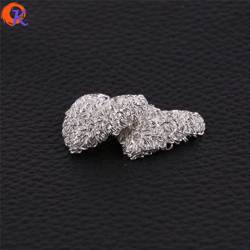 Cordial Design 50Pcs/Lot 23*24MM Earring Findings/Jewelry Accessories/Heart Shape/Earring Base Parts/Hand Made/Earring Making