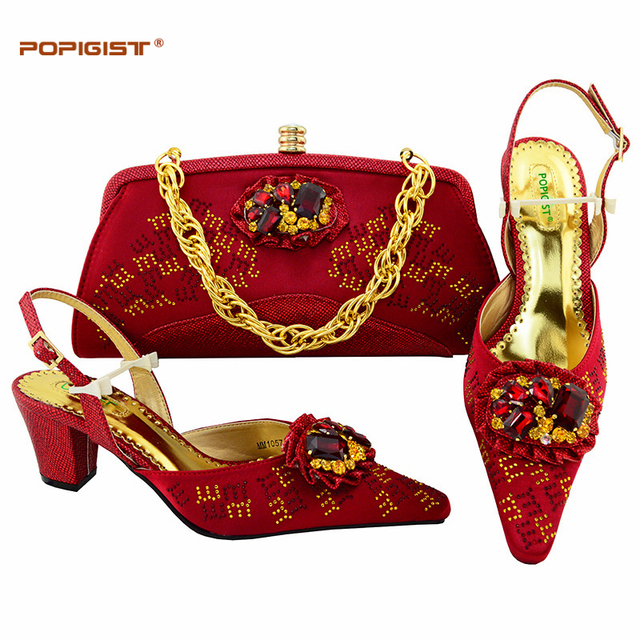 5ceca77902e Italian Shoes with Matching Bag Wine Color Nigerian Women Wedding Shoes and  Bag Set African Wedding Shoes and Bag Set 2018