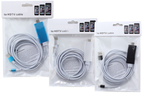 IOS 10 11 Plug And Play Téléphone à TV HDTV HDMI Vidéo Adaptateur pour iPhone 8 PLUS 7 6 6 S Plus 5 5S 5C iPad Air 2 Pro Mini 4 3