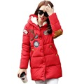 Tengo Fashion Women's Winter Long Section Hooded Down Jacket Female Warm Coat Jacket Embroidery Thickened Large Size