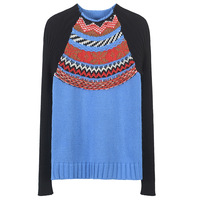 SRUILEE Retro Striped Patchwork Sweater High End 2018 New Winter Twist Jumper Women Sweater Color Block Pullover Knit Top Runway