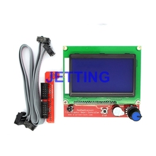 JETTING 2017 New 12864 Display LCD 3D Printer Controller +Adapter For RAMPS 1.4 Reprap Mendel GM Drop Shipping
