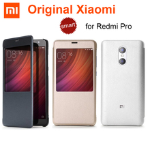 Xiaomi redmi pro durumda orijinal pu deri + pc xiaomi, redmi pro Helio X20/X25 Çift Arka Kamera, akıllı kapak kılıfları