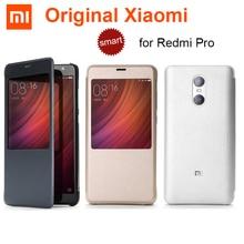 から xiaomi redmi pro ケースオリジナル pu レザー + pc xiaomi 、 redmi pro エリオ X20/X25 デュアルバックカメラ、スマートフリップカバーケース s