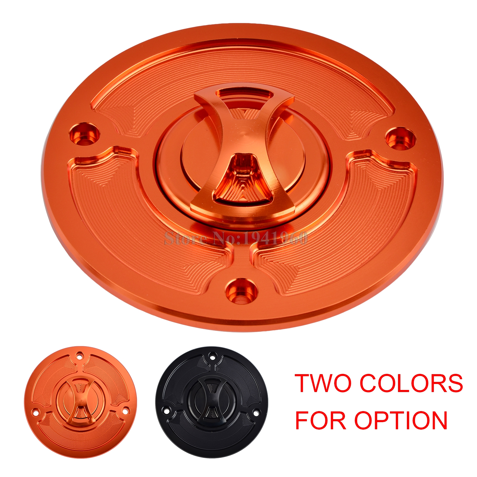 Motorcycle Aluminum CNC Gas Fuel Tank Cap Cover For KTM 125 200 390 Duke Black Orange for ktm 390 duke motorcycle leather pillon rear passenger seat orange color