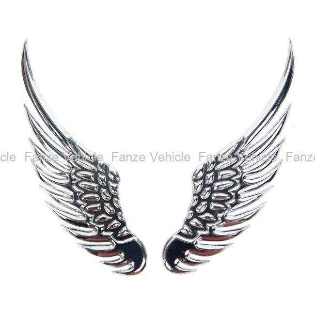 Free Shipping New Universal Vehicle Car Angels Wings 3d Car Emblem