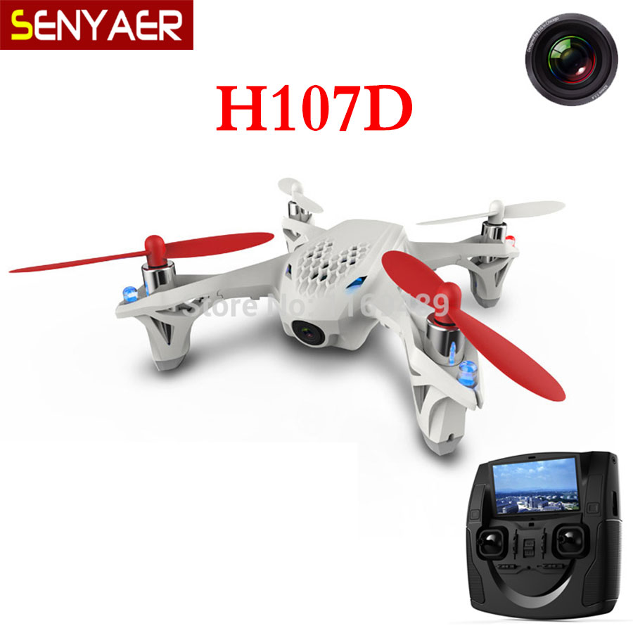 Hubsan X4 H107D+ RC Helicopter FPV X4 5.8G 4CH 6 Axis 5MP quadrocopter RTF Transmitter Aerial Machine wifi camera