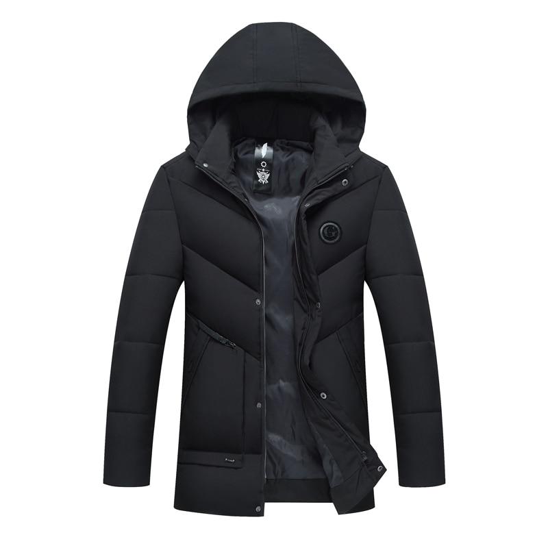 2018 haute qualité long chaud vestes coton manteau pour hommes long veste manteau cachemire hommes coupe-vent Parkas coton vêtements hommes