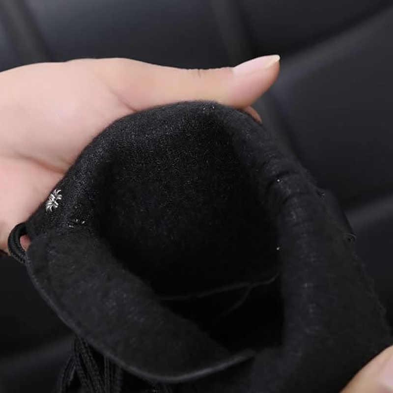 ข้อเท้ารองเท้าบูทสำหรับสุภาพสตรีสีดำขนาดใหญ่ขนาด 4.5-10 fleeces รถจักรยานยนต์รองเท้าเพิ่มสบายรองเท้าหนังผู้หญิงฤดูใบไม้ผลิ